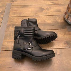 Mossimo Black Moto Boots